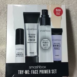 Smashbox try-me: face primer set photo finish NEW